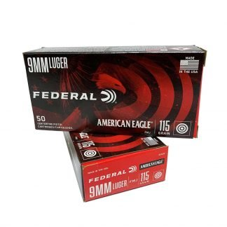 Federal American Eagle 9mm Luger 115 Grain Full Metal Jacket FMJ 50 rounds