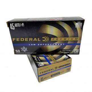 Federal 45 ACP Auto 230 Grain+P HST Jacketed Hollow Point JHP 50 rounds